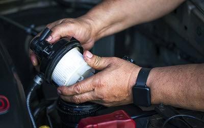 Diesel Pickup Truck Fuel Filter Installation